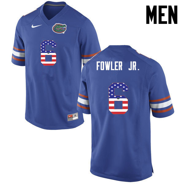 Men Florida Gators #6 Dante Fowler Jr. College Football USA Flag Fashion Jerseys-Blue